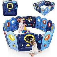 YOLEO Parque Infantil para Bebés, Corralito Bebe XXL 12 + 2 paneles, Centro de Actividades para Niños, Patio de Juegos…