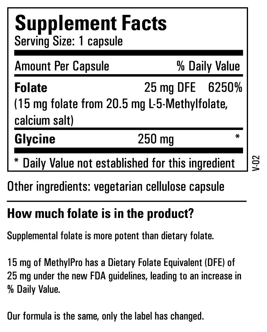 Metabolic Maintenance L-Methylfolate 15 mg - Active Folate (L-5-MTHF) for Mood, Nerve + Cardiovascular Support (60 Capsules) by Metabolic Maintenance (Image #6)