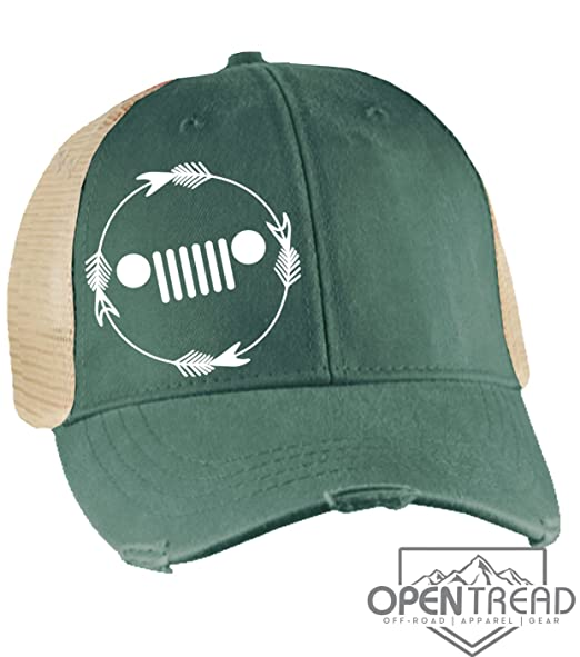 a43468bb Cute Jeep Hat With Grill - Forest Green Vintage - Trucker Hat - Jeep ...