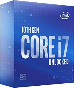 Intel Core i7-10700KF Desktop Processor 8 Cores up to 5.1 GHz Unlocked Without Processor Graphics LGA1200 (Intel 400 Series chipset) 125W