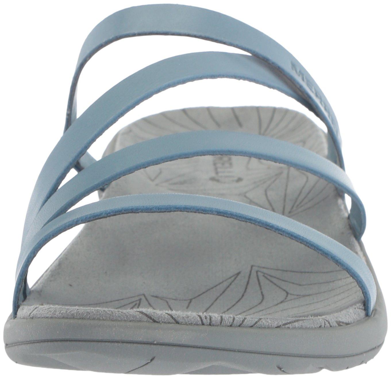 Merrell Women's Duskair Seaway Leather Slide Sandal B072M2VZT7 5 B(M) US|Blue Heaven