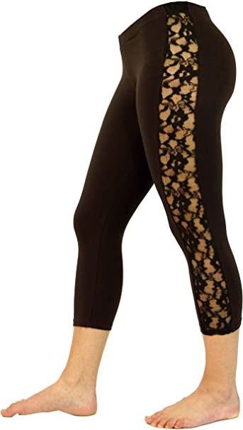 GURU-SHOP, 3/4 Psytrance, Leggings de Mujer Goa, Pantalones de ...