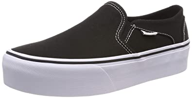 Vans Womens Asher Slip On Sneaker Black