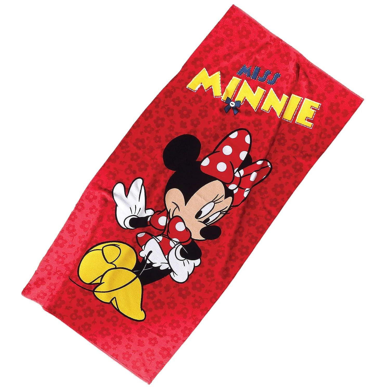Yoga y SPA Piscina dise/ño de Minnie Mouse TI Home Disney Toalla de Playa para nataci/ón 75 x 150 cm