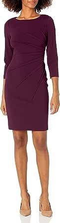 Calvin Klein Women's Three Quarter Sleeve Starburst Sheath Dress