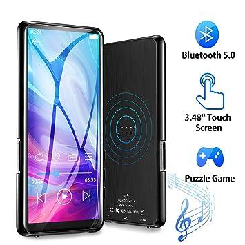 Reproductor MP3 Bluetooth 8GB con 3,46 Inch Pantalla Táctil Olycism Reproductor de Música Deportivo Radio FM Rompecabezas Juegos Grabadora de Voz con ...