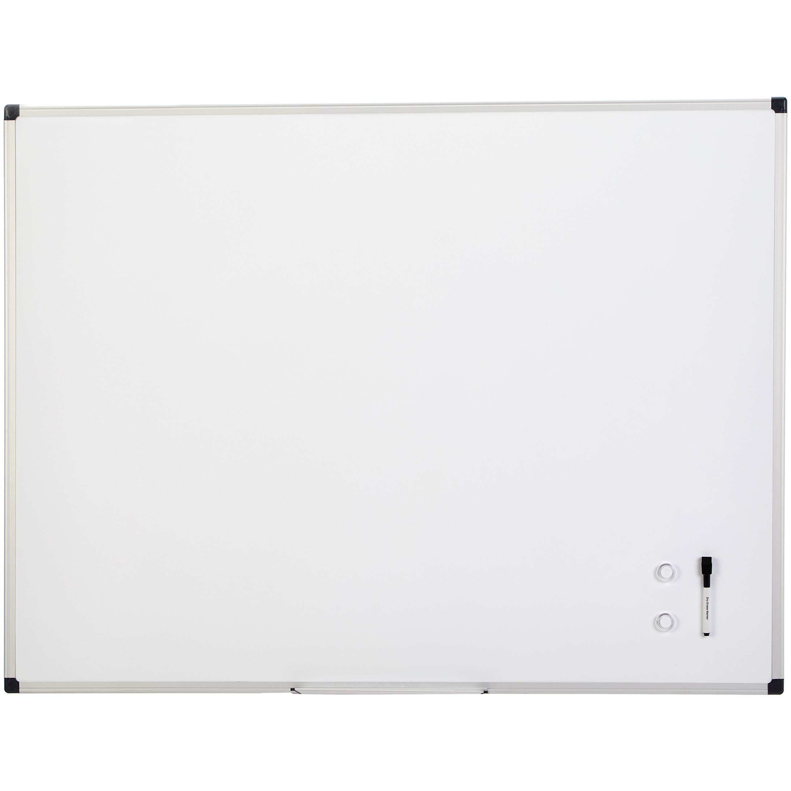 AmazonBasics Magnetic Framed Dry Erase White Board, 36 x 48 Inch by AmazonBasics