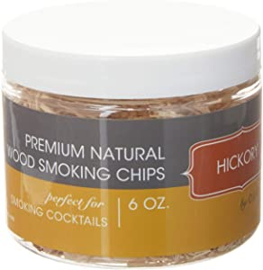 Outset Kiln-Dried Natural Hickory Wood Smoking Chips, 6 oz, Brown