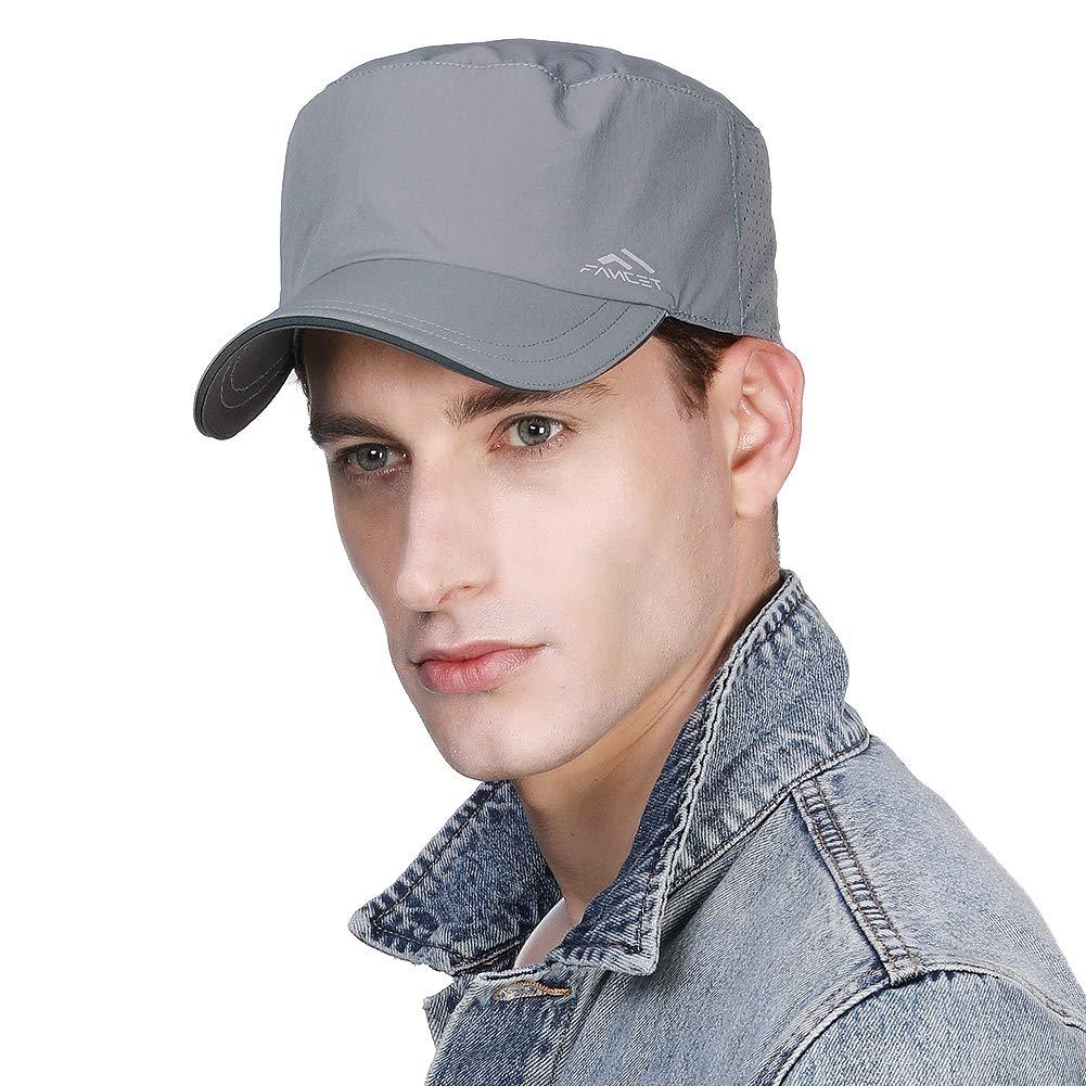 Fancet Packable Men Military Army Summer Waterproof Quick-Dry Rain Hat for Large Head Women Combat Baseball Cap Grey 57-60cm by Fancet