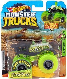 Amazon com: HOT Wheels Monster JAM 1:64 Scale, Pink Podium Crasher