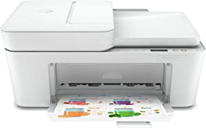 HP DeskJet Plus 4122 All-in-One Printer, All in One Photo Printer with Wireless Printing, HP Instant Ink Ready, Compatible with Alexa, 7FS77A (Renewed)