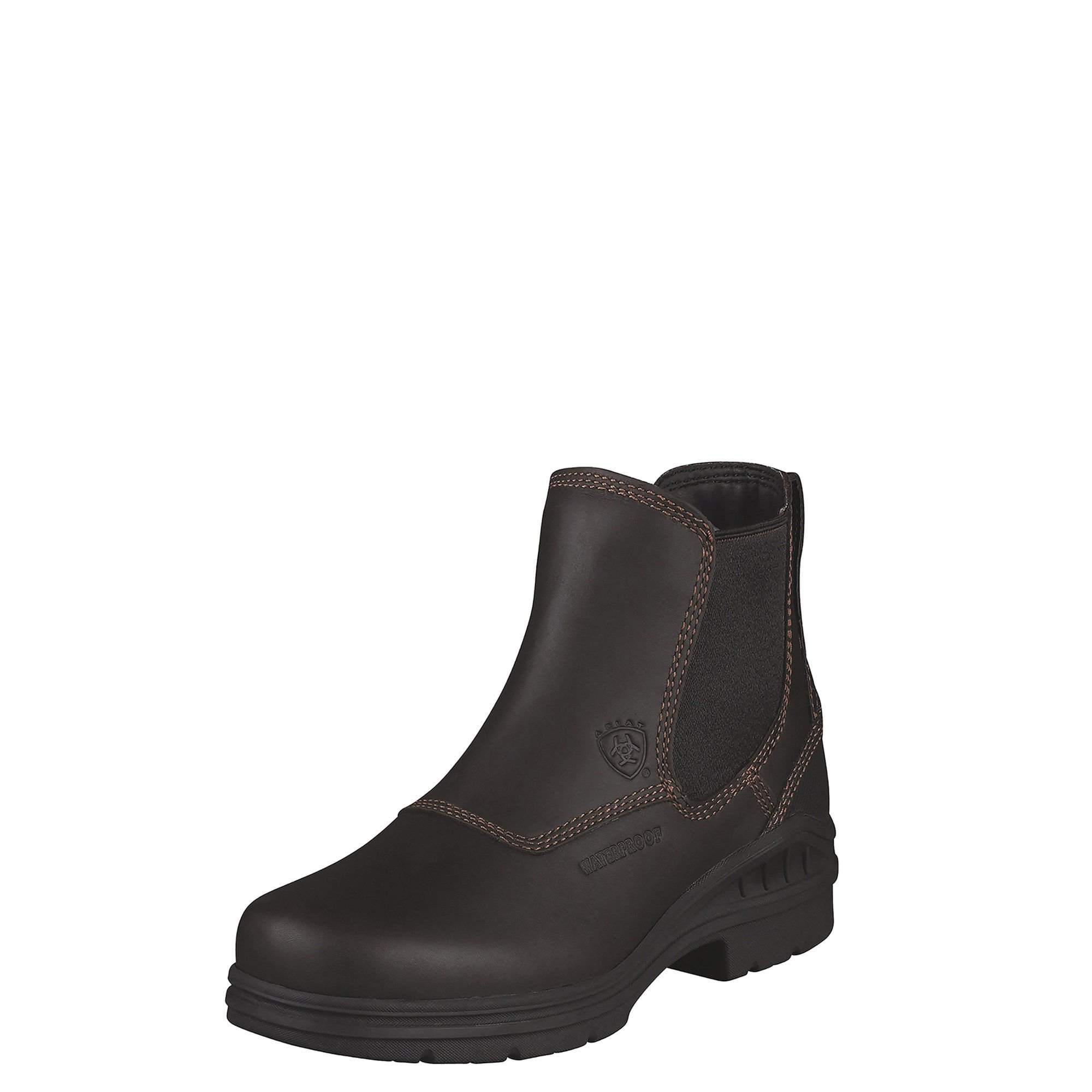 Ariat Women's Barnyard Twin Gore H2O Barn Boot, Dark Brown, 7.5 M US