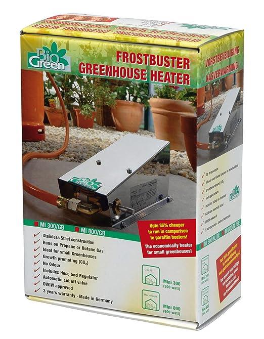Bio Green Gasheizung Frostwachter Mini 800 W Edelstahl Fur