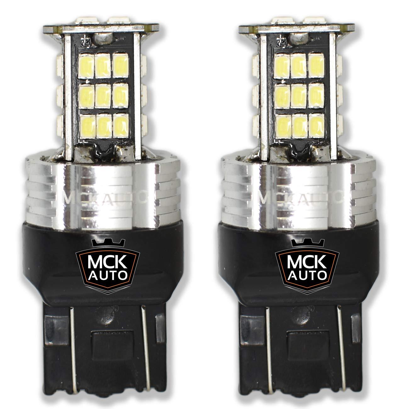 MCK Auto 1600lm T20 7443 W21/5W Blanco LED Bombillas Canbus F20 F21 208 A1: Amazon.es: Coche y moto