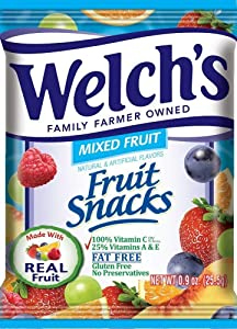 WELCH's Fruit Snacks, Mixed, 80 Counts, 4.5 Pounds