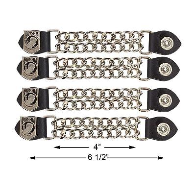 Motorcycle POW/MIA Double Button Chain Vest Extender (4 pcs per set): Automotive