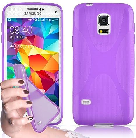 Cadorabo - Carcasa de silicona para Samsung Galaxy S5/S5, color morado