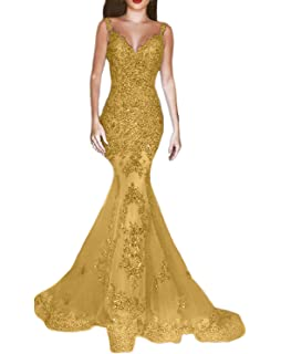 30e51fe6444e OYISHA Women's Formal Sequin Mermaid Prom Dresses Long V-Neck Wedding  Evening Pageant Dress EV44