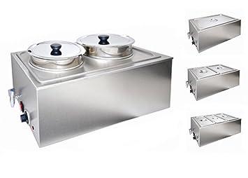Amazoncom Sybo Bain Marie Buffet Food Warmer Steam Table Double - Restaurant warmer table