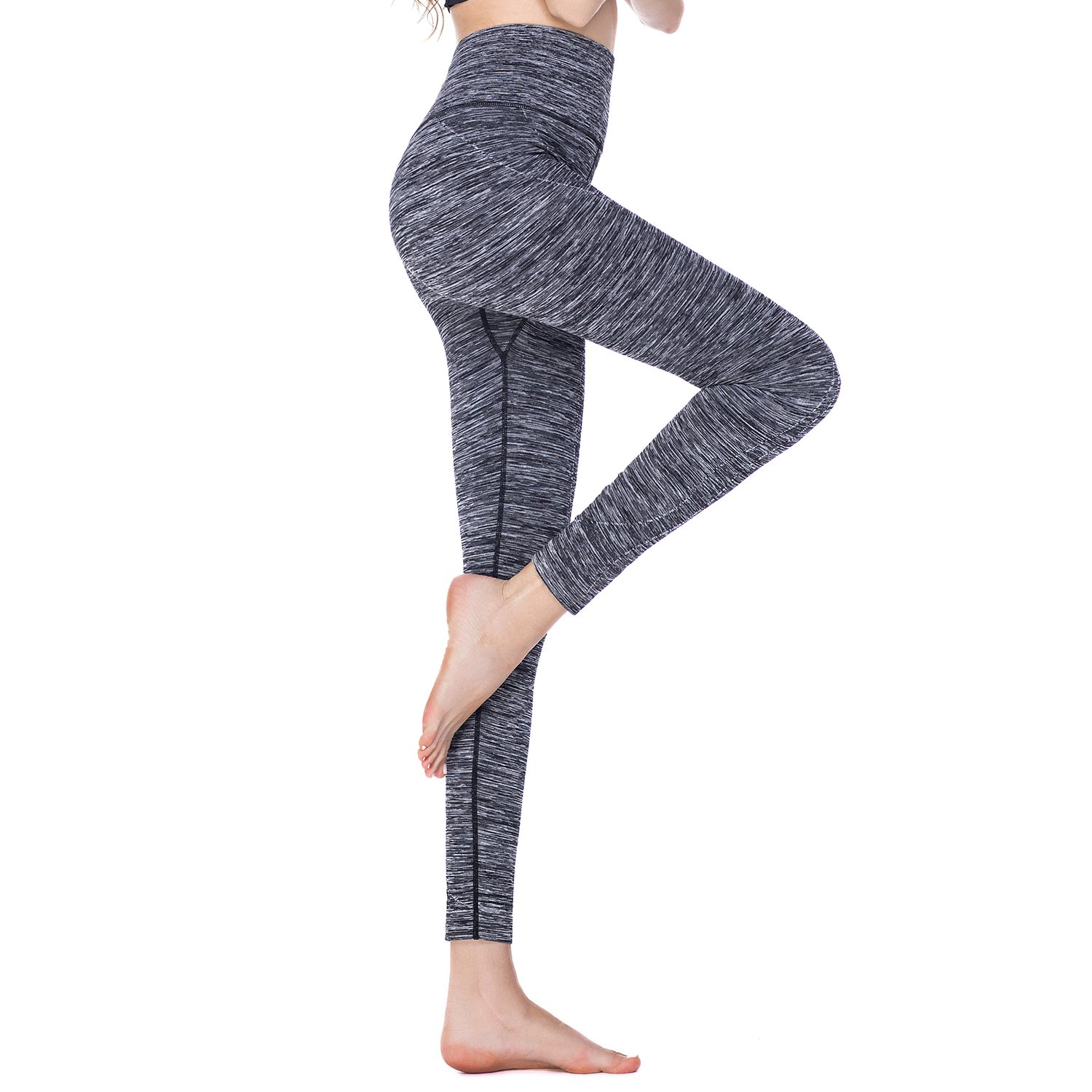 Tirrinia Women Power Stretch Yoga Leggings Pants Plus Size High Waist Workout Activewear Tights for Yoga, Running, Fitness, Sports