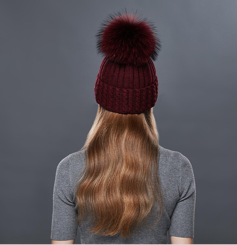 DUVERT Bonnet Femme Hiver//Tuques dhiver//Bonnet Chapeau Femme Unisexe Laine tricot/é