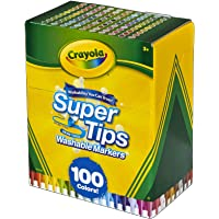 Crayola Super Tips Washable Markers, 100 Count, Bulk