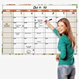Dunwell Jumbo 32x48 Erasable Monthly-Weekly Undated Planner (Floral), Reversible Wet Erase and Dry Erase Monthly Weekly…