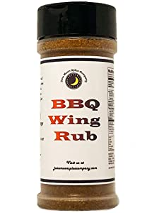 PREMIUM | BBQ Wing Rub | Large Shaker | Crafted in Small Batches with Farm Fresh SPICES for Premium Flavor and Zest