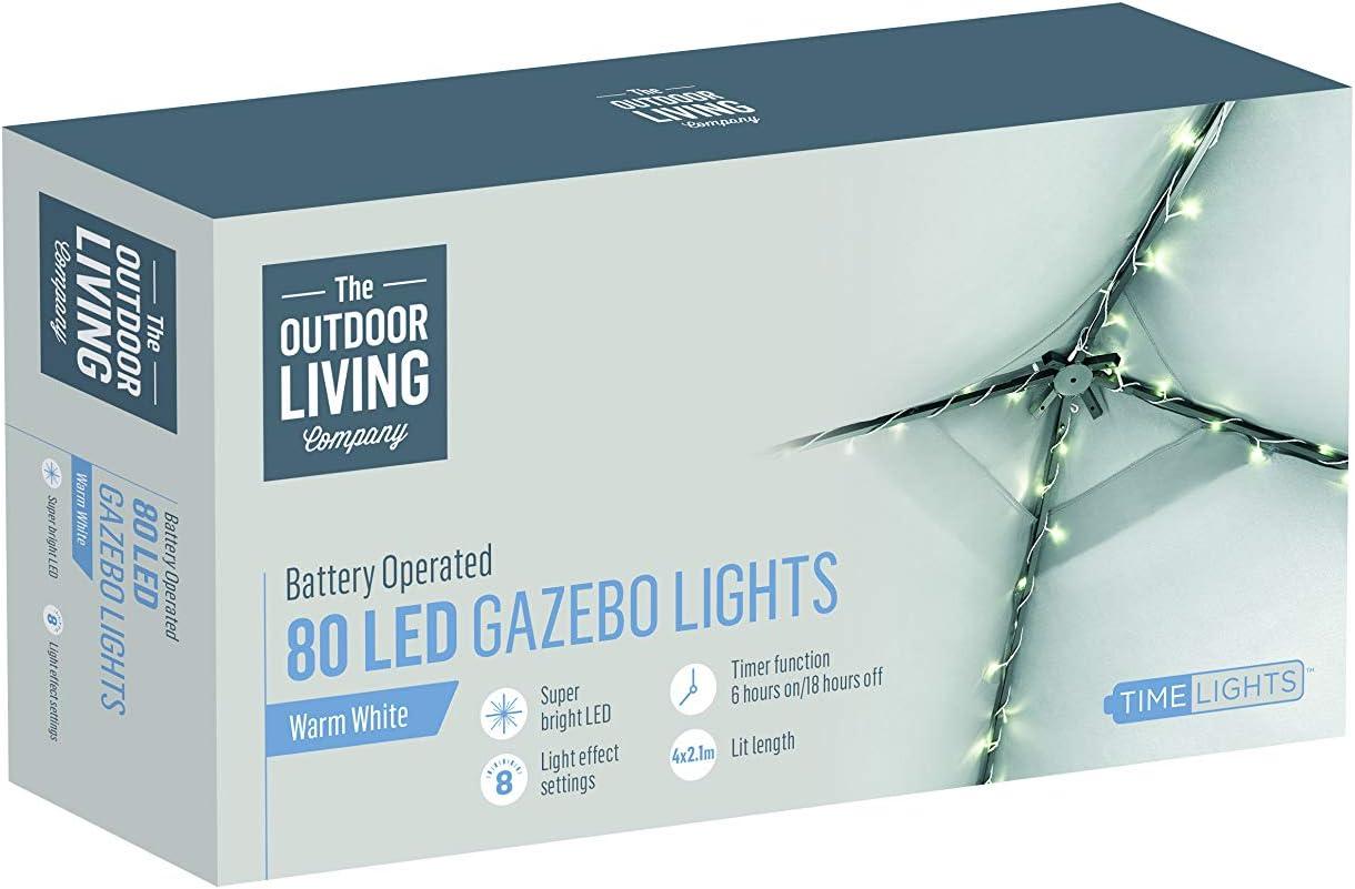 Premier 80 LED Gazebo Lights for 3x3m Party Garden Outdoors Family ...