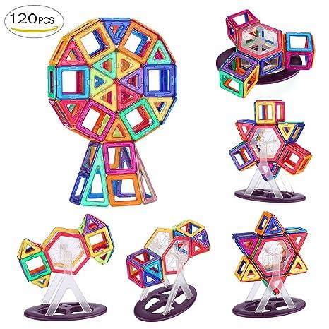 Shinehalo 120pcs Blocchi Di Costruzione Magnetici Per Bambini