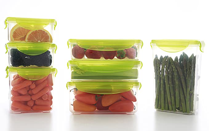 Amazoncom Kinetic GoGreen Fresh 20 Piece Rectangular Food Storage