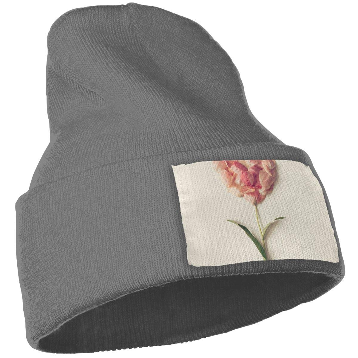 Flower in Shape of A Heart Made of Tulip Petals Unisex Fashion Knitted Hat Luxury Hip-Hop Cap