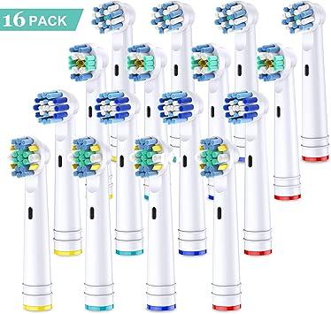 Cabezales de cepillo de dientes de reemplazo de 16 paquetes para ...