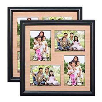 Amazoncom Petaflop 35x5 Picture Frames Collage Wood Matted 4