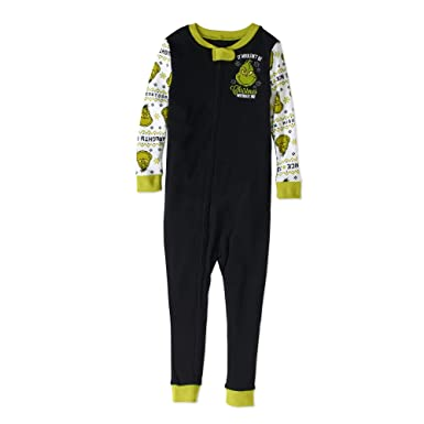 683baa555 The Grinch Christmas Holiday Pajamas Baby Toddler Unisex Footless Sleeper  (0-3 Months)
