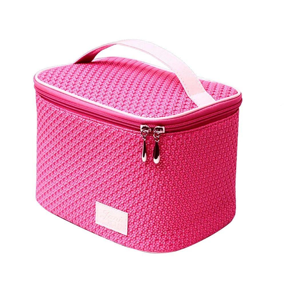 EYX Formula Fashion Large Capacity Cosmetic Bag Bucket Bag Organize Bag, Portable Handle Makeup Bag Travel Bag Case for Organizing & Storaging