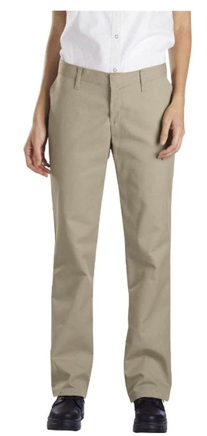 Dickies Occupational Workwear FP322KH 4 RG Polyester/Cotton Relaxed Fit Women's Industrial Flat Front Pant with Straight Leg, 4 Regular, 31-1/2