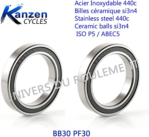 cycling velo mtb cycling Ball bearing has bb30 30x42x7 inox 6806 2rs 2pcs