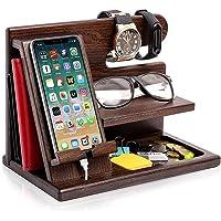 Soporte de madera para teléfono móvil multifuncional puede colgar relojes, gafas, llaves, accesorios, estante de…
