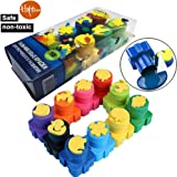 "Happlee ""Rama"" 10 Bottle Washable Kid's Paint ,Stamp Finger Paints , Washable Kids finger Painting Set , Eco Kids Non-Toxic Natural Art Supply Kit"