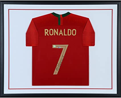5247f97cb Image Unavailable. Image not available for. Color  Cristiano Ronaldo  Portugal Standard Framed Autographed 2018 Jersey - Fanatics Authentic ...