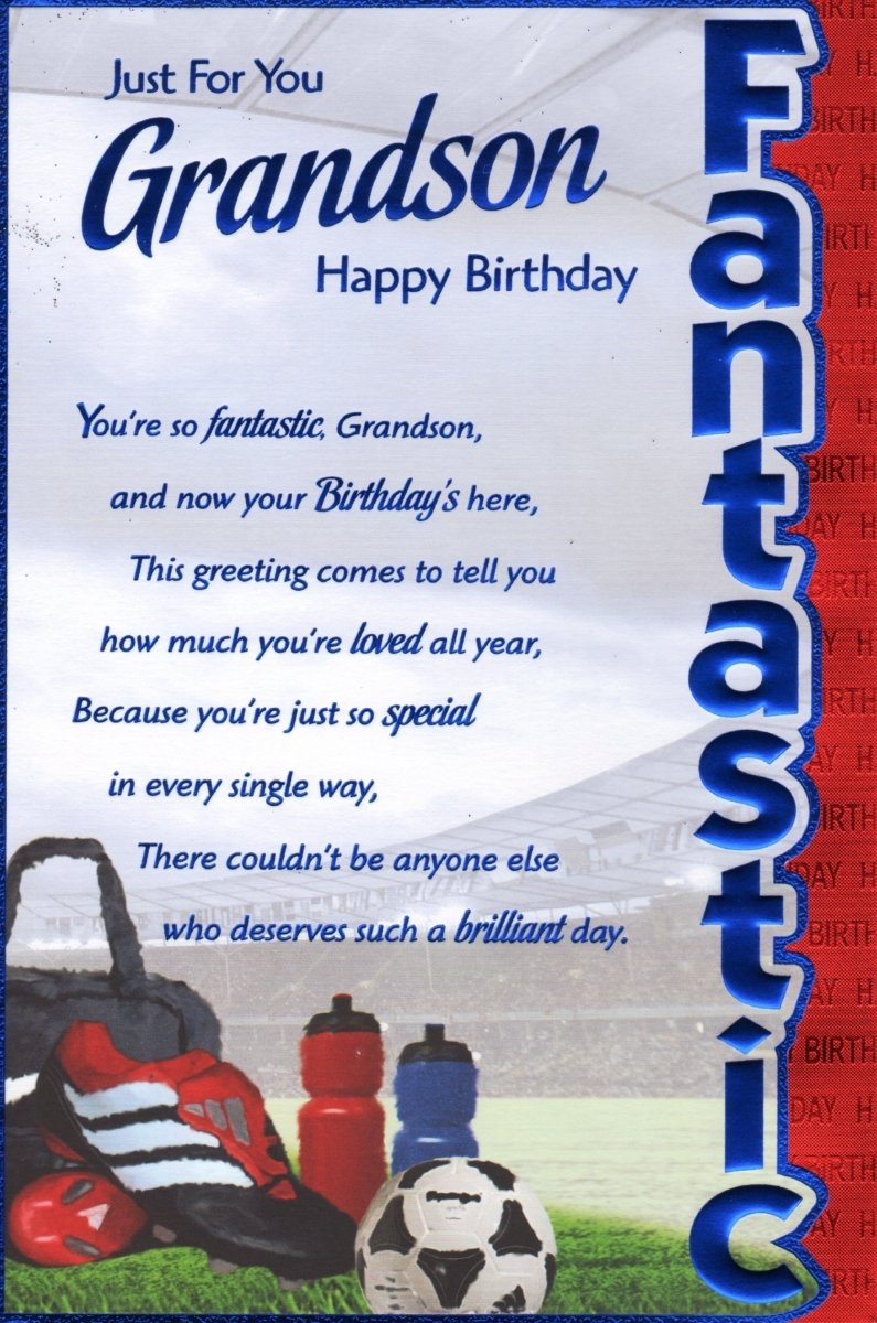 Grandson birthday card just for you grandson happy birthday grandson birthday card just for you grandson happy birthday amazon office products m4hsunfo