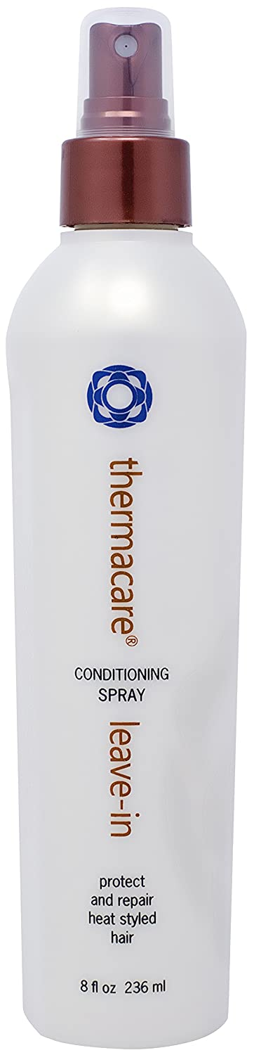 Thermafuse Thermacare Leave-In Conditioning Spray (8 Ounce) Maximum Protection Against Heat From Styling Tools, While It Moisturizes, Softens & Repairs - Detangler For All Hair Types