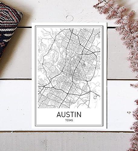 Amazon.com: Austin Map, Austin Map Print, City Maps, Map Print, Map ...