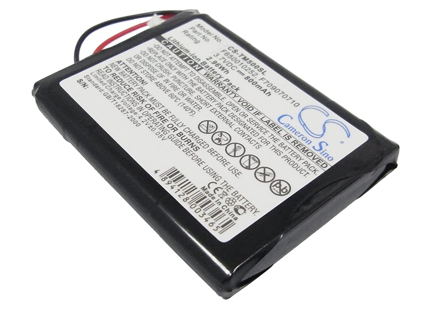 Replacement Battery by Cameron Sino for TomTom One Series VINTRONS CS-TM500SL