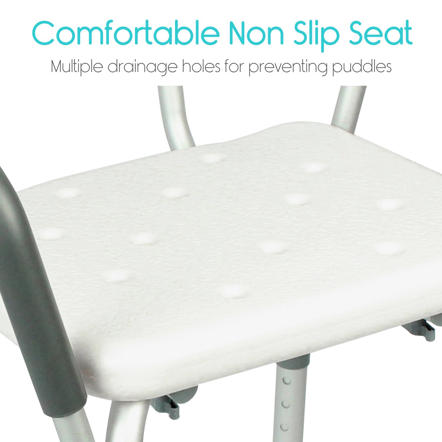 Vive Shower Chair With Back Handicap Bathtub Bench With