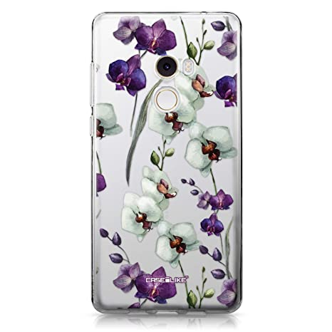CASEiLIKE® Funda Mi Mix 2, Carcasa Xiaomi Mi Mix 2, Orquídea 2279, TPU Gel Silicone Protectora Cover