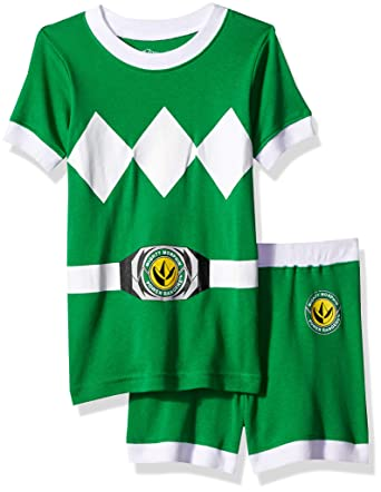 487c8490a8 Image Unavailable. Image not available for. Color  Power Rangers Boys  Big  Green Mighty Morphin Pajama ...