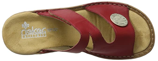 Rieker Damen 60883 Pantoletten, Rot (Rosso/33), 39 EU
