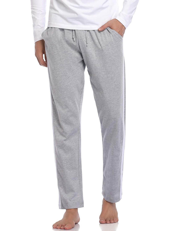 Hawiton Pantalones Deportivos Hombre 100/% Algod/ón Pantalones de Pijama Invierno Largo Pantal/ón de Ch/ándal Primavera
